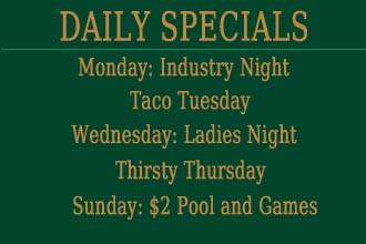 Specials at Buffalo Billiards